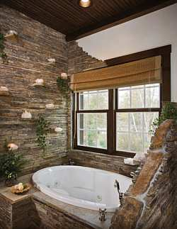 Home improvement decorating remodeling and home garden made easy - Natural stone bathroom designs ideas ...