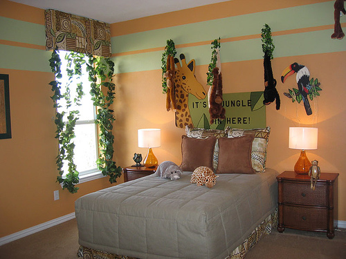 Jungle Themed Bedroom Modern Baby Crib Sets