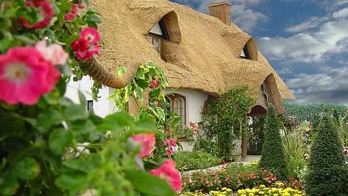 Lunática e colorida, o jardim de estilo chalé exige muito amor e carinho, mas esse jardim da casa autêntica mostra como magnífico os resultados podem ser!