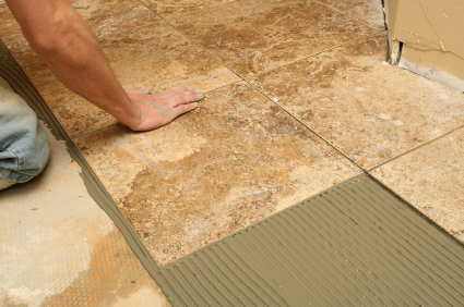 Learning to install a tile floor is not that hard for the do-it ...