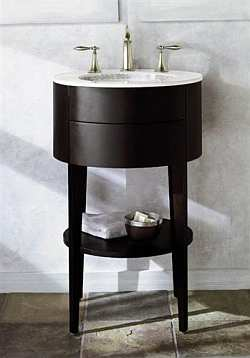 round bathroom sink vanity cabinet