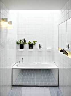 Bathroom Design Tool on White Ceramic Tile Helps This Bathtub Enclosure Feel Bigger Than It
