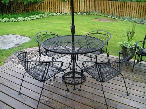 Outdoor wrought iron patio furniture Metal garden furniture sets
